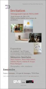 Carton Verso Mémoires familiales avec bordure noire